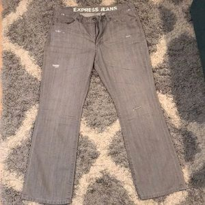 Express  Boot cut Jeans Gray